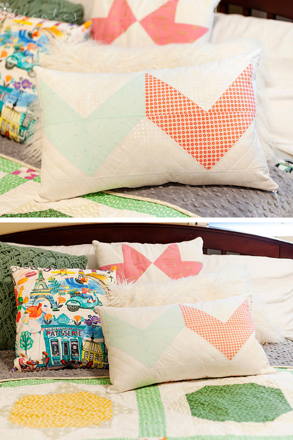 Double Chevron Pillow made by Angela Coleman | Shannon Fraser Designs