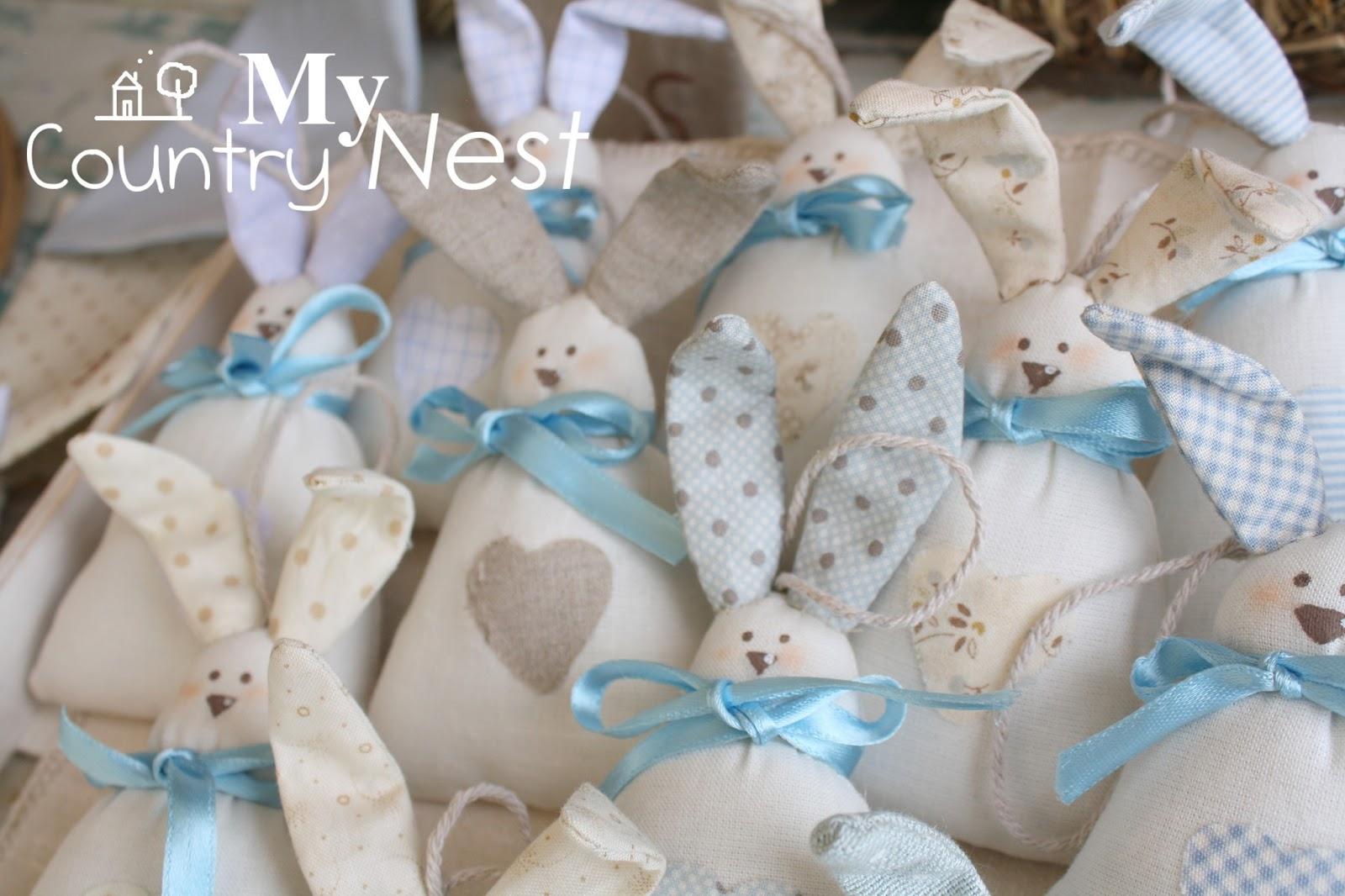 Amato My country nest: Coniglietti Tippi: tenere bomboniere per un battesimo FA76