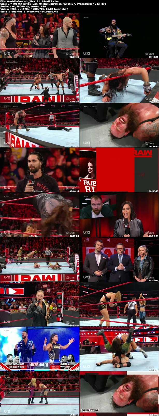 WWE Monday Night RAW 19 NOVEMBER 2018 720p HDTV 1Gb x264 world4ufree.vip tv show wwe monday night raw wwe show monday night raw compressed small size free download or watch onlne at world4ufree.vip
