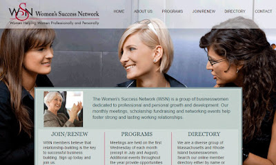 screen grab of Women's Success Network webpage