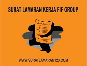 Contoh Surat Lamaran Kerja di Fif Group yang Baik dan Benar