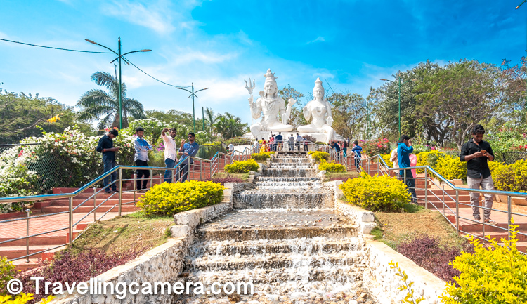 "These huge statutes of lord Shiva & Parwati are probably one the most visited places on Kailashgiri hill. In 2003, Government of Andhra Pradesh awarded Kailasagiri as its ""Best Tourist Spot"".   There is a walk around the hill which exposes you to panoramic view of the ocean and the Vizag city."