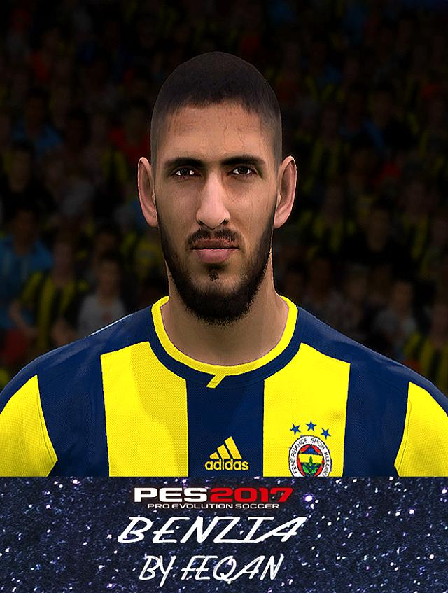 Yassine Benzia Face for PES 2017 by FEQAN