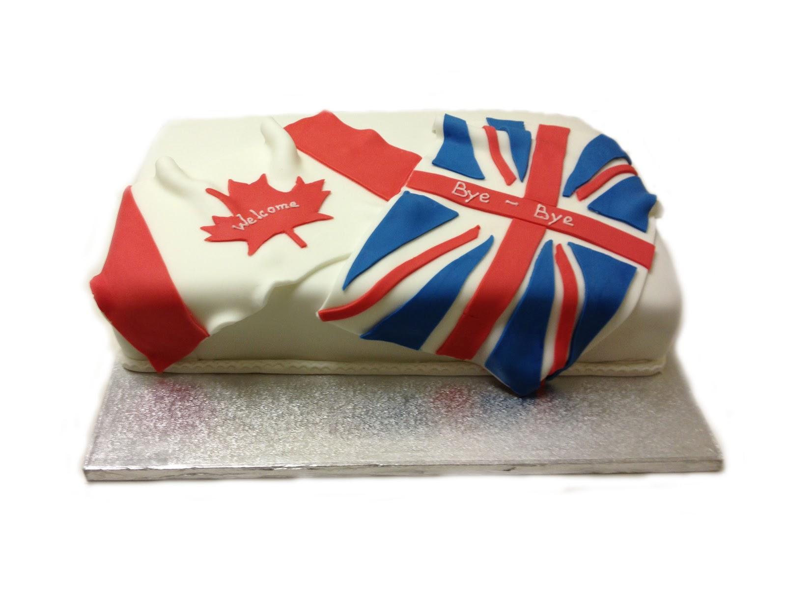 Canada Flag Birthday Cake
