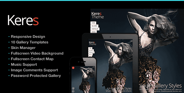 Keres Fullscreen Photography Theme Free Download | Cool Themez