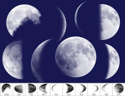 رسم القمر