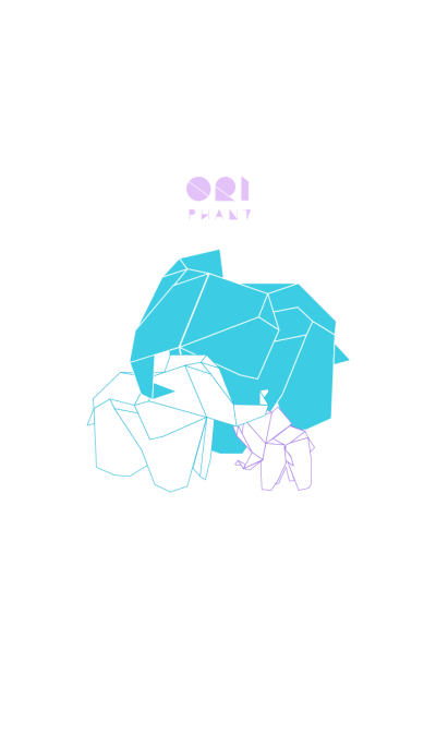 Ori-phant II | an origami elephant