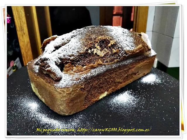 Plum-Cake de coñac y chocolate