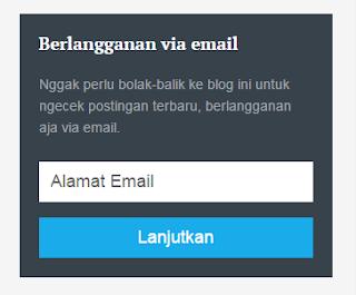 Cara Membuat Widget Subscribe Box Keren Ala Mas Sugeng