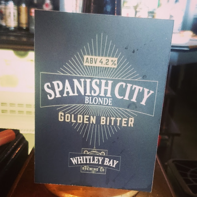 Northumberland Craft Beer Review: Spanish City from Whitley Bay Brewing Co. real ale pumpclip