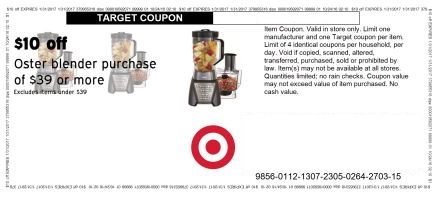 Oster Kitchen Food Processor Blender Coupon