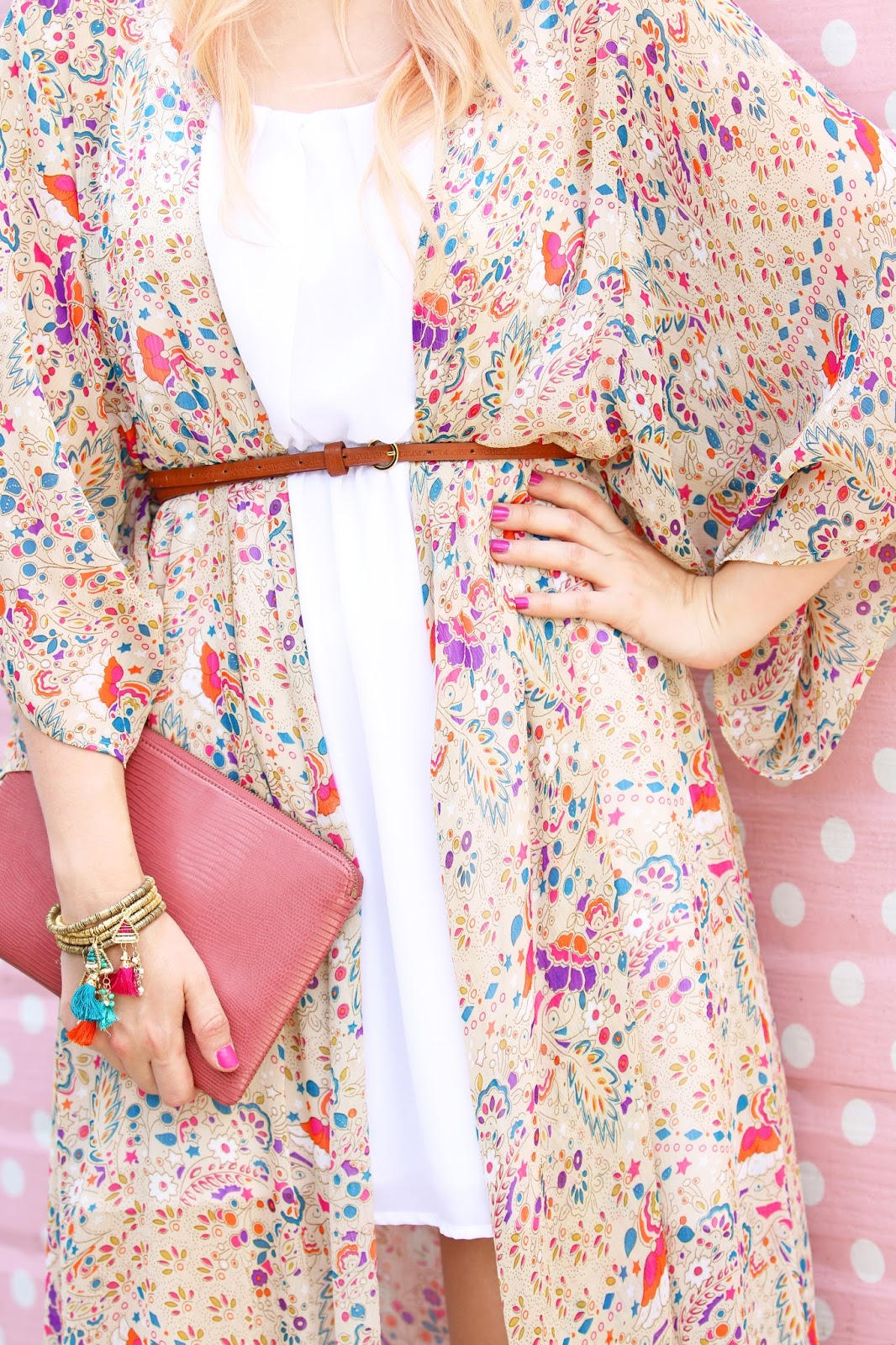 Cute kimono outfit for the Summer