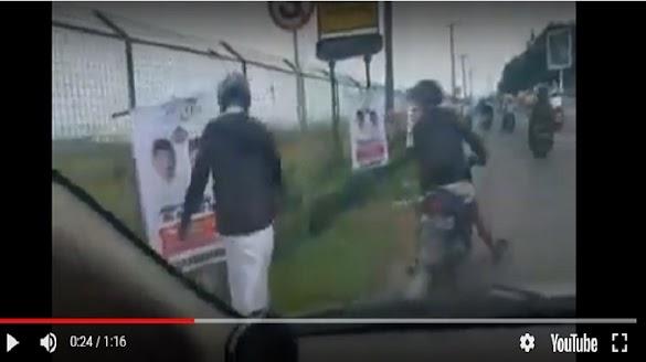 Langgar Aturan, Bawaslu Copot Spanduk Jokowi-Ma'ruf di Pagar Bandara Syamsudin Noor