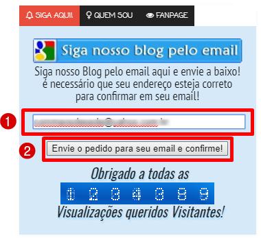 Siga o blog pelo email