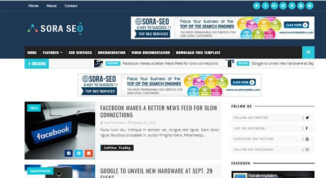 Top 5 SEO friendly blogger templates-  best free premium looking blogger templates