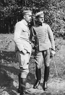 Bolesław Wieniawa Długoszowski i Józef Piłsudski 1916