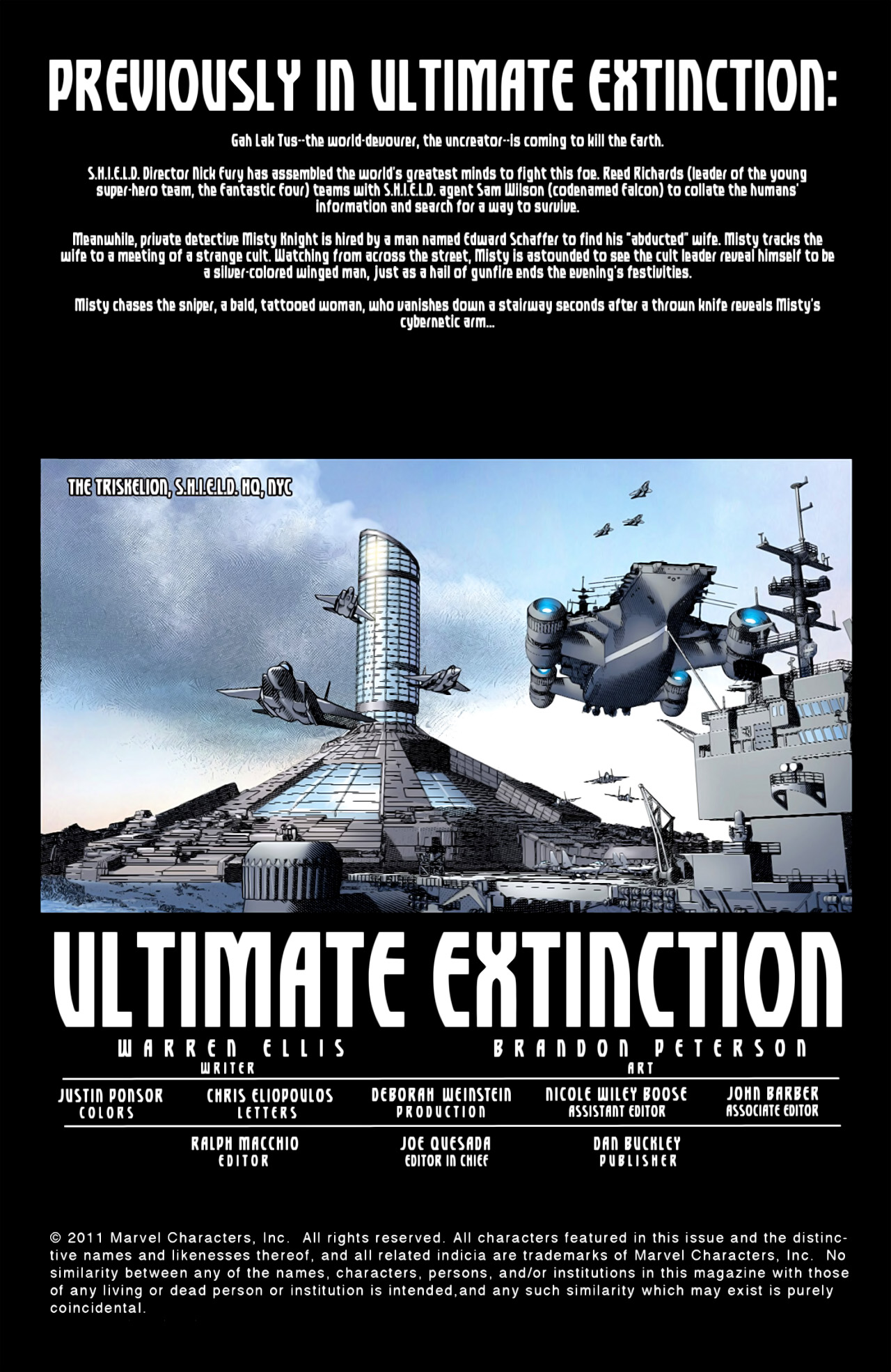 Read online Ultimate Extinction comic -  Issue #2 - 2