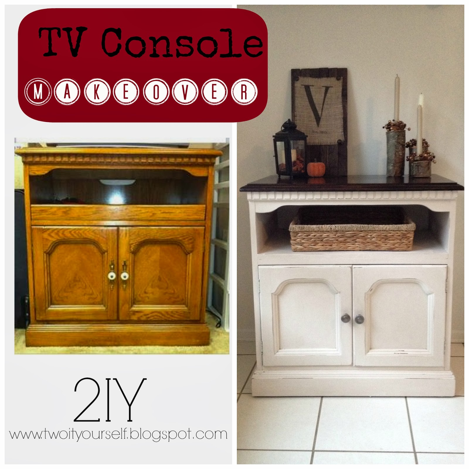 Attractive Two It Yourself: Thrifted TV Stand Makeover with Two-Tone Stain  ZF04