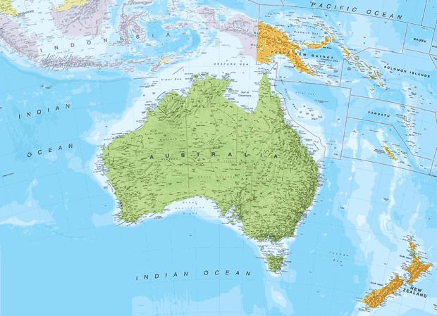 letak astronomis-geografis-geologis-Australia