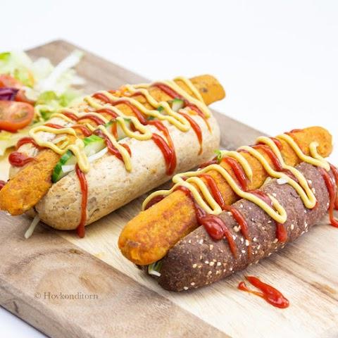 Lentil Carrot Veggie Hot Dog