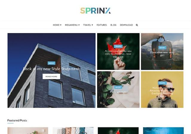 Sprinx Blogger Theme