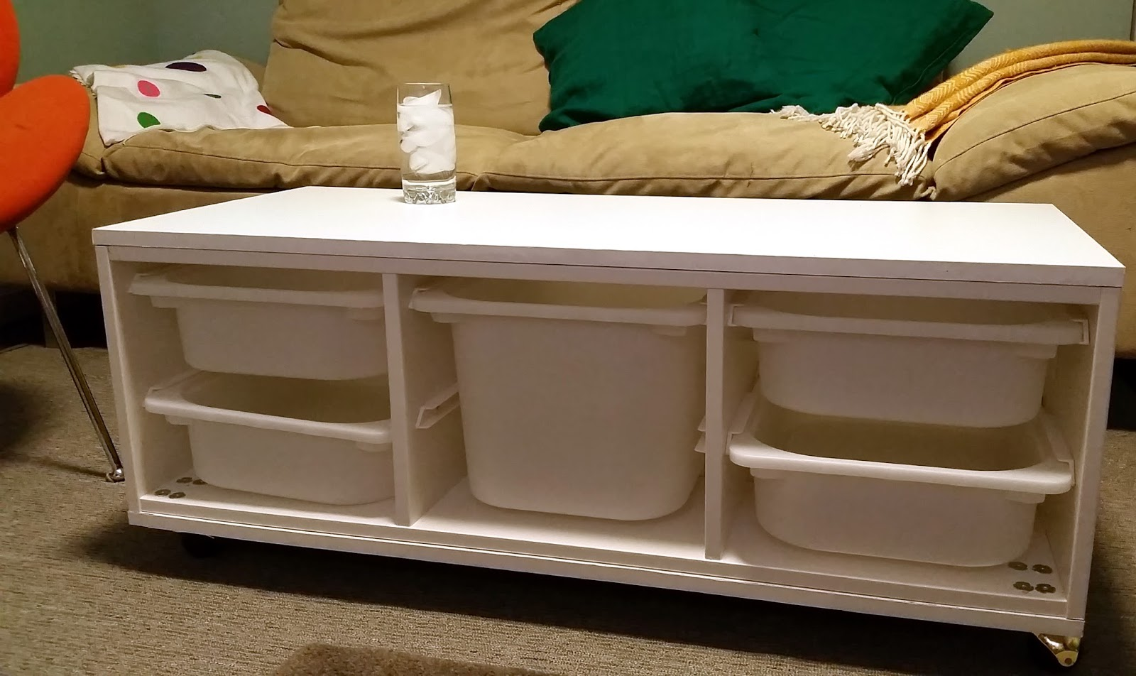 Fresh Coat Of Paint Ikea Hack Trofast Coffee Table