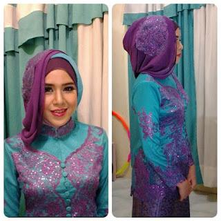Kreasi Hijab Kebaya Wisuda Modern