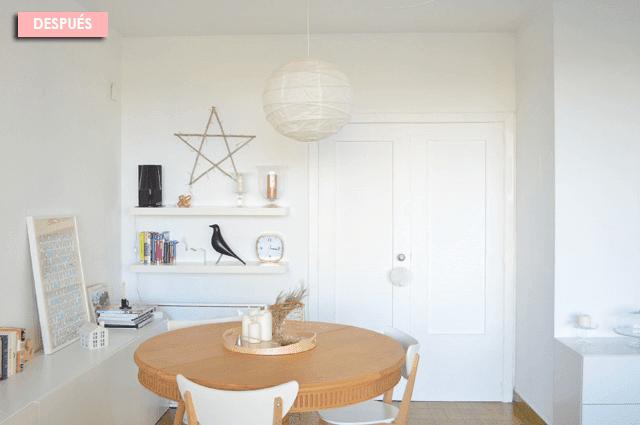 puerta de salón comedor pintada
