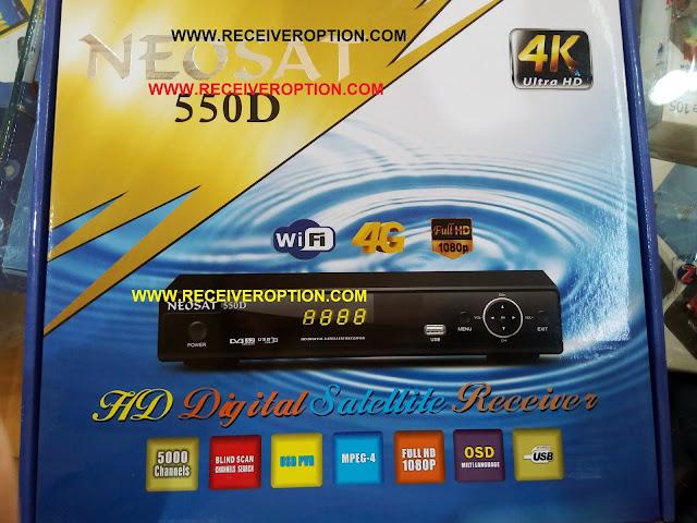 NEOSAT 550D HD RECEIVER CCCAM OPTION