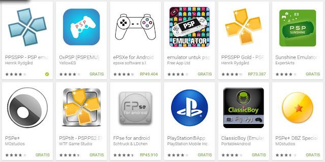 Aplikasi emulator PSP Android terbaik