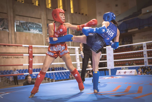Russia muay thai boxing women in sport girls who fight IFMA amateur