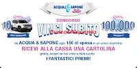 Logo Acqua&Sapone ''Vinci subito'' 100.000 premi e 10 Jeep Renegade MY 18 Sport