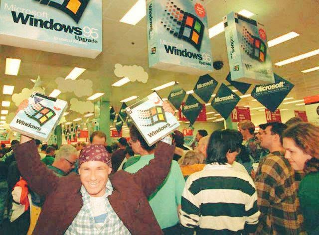 windows 95 lancamento