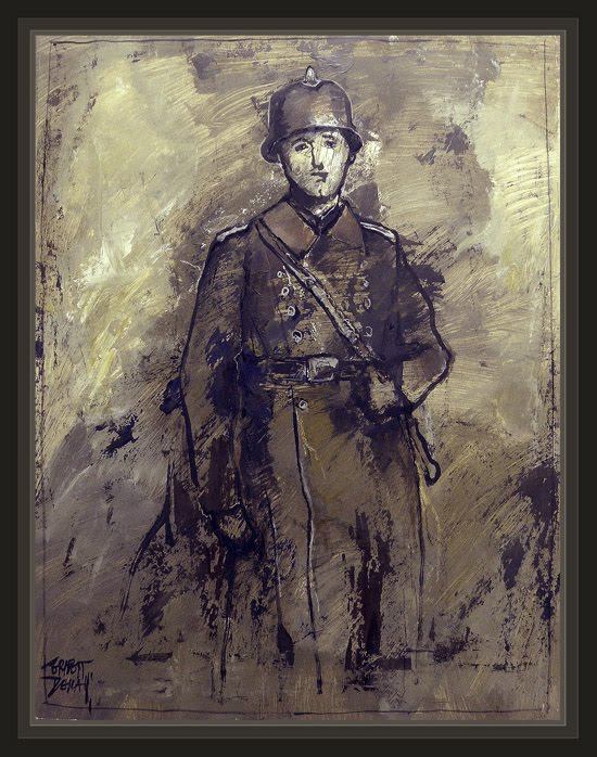 WW2-GERMAN-FIREFIGHTER-FEUERWEHR-BOMBEROS-ALEMANIA-PAINTINGS-PINTURA-ERNEST DESCALS