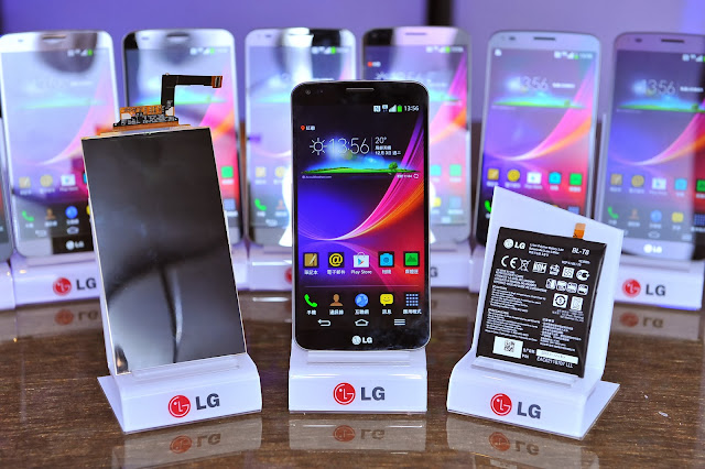 the new flexible phone from LG, LG G FLEX