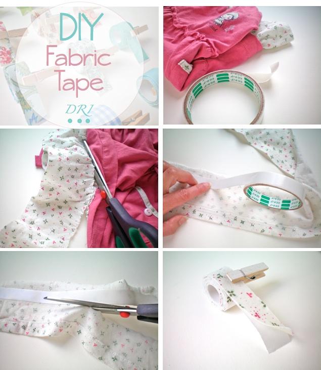 Decora recicla imagina diy fabric tape reciclando telas - Como quitar cinta adhesiva doble cara de la pared ...
