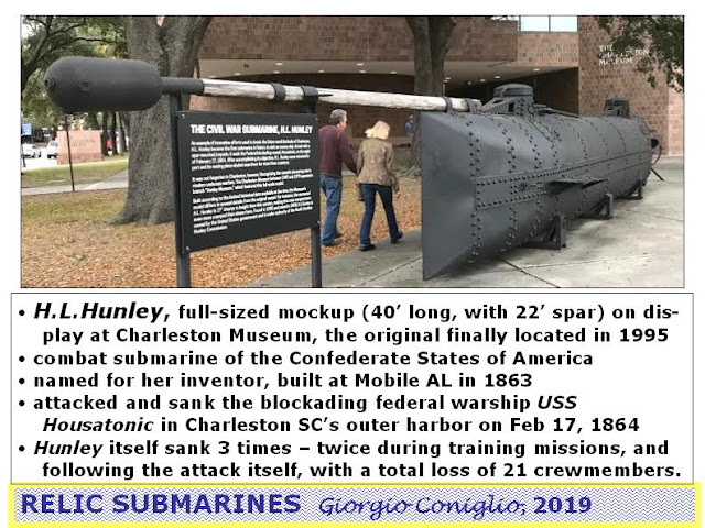 U.S.; Civil War; submarines; Confederacy; H.L. Hunley; Charleston; Giorgio Coniglio South Carolina