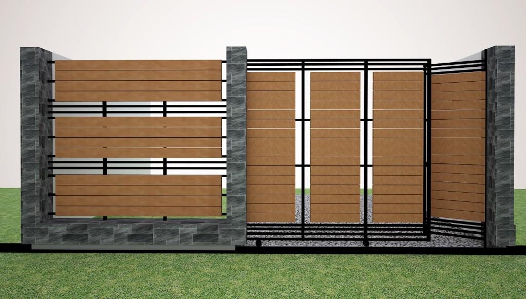 Minimalist House Fence Design