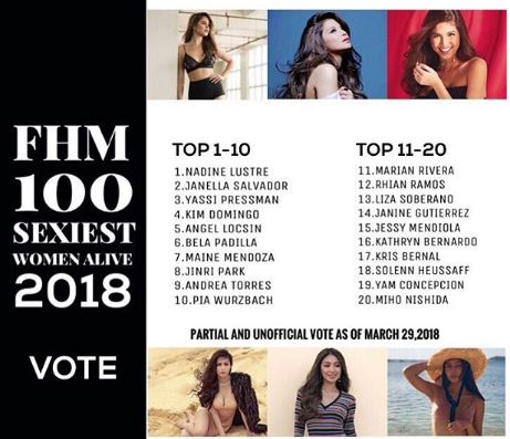 Angel Locsin Placed 5th On The Partial And Unofficial List Of FHM's Sexiest Women