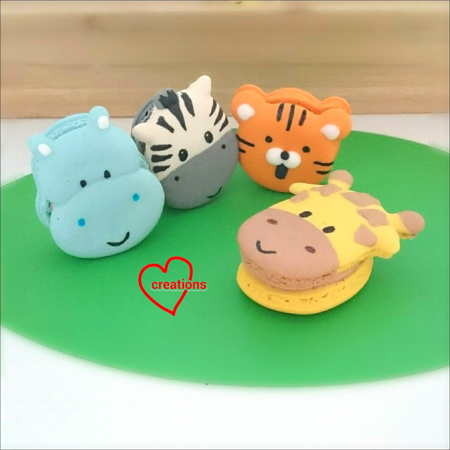 Loving Creations for You: Safari Themed Macarons with Milo ...