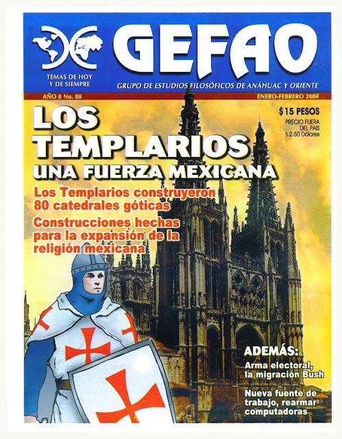 Los Templarios una fuerza Mexicana Revista GEFAO