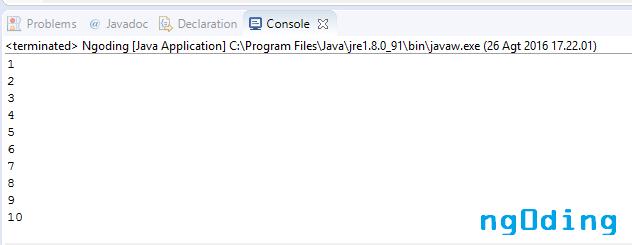Pengulangan Memakai For Dalam Bahasa Pemrograman Java