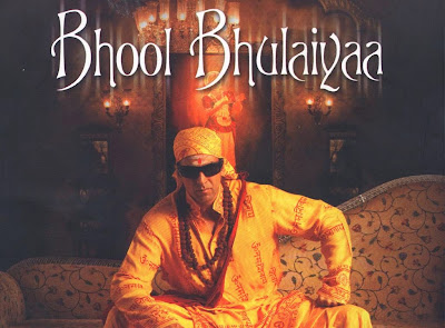 Poster Of Bollywood Movie Bhool Bhulaiyaa (2007) 300MB Compressed Small Size Pc Movie Free Download worldfree4u.com