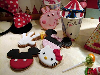 galletas Mickey mouse, minnie, kitty