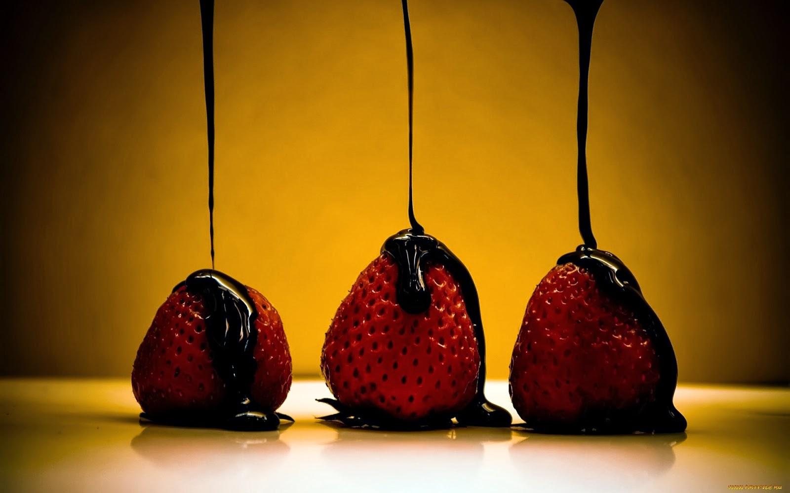 Fondos De Pantalla De Chocolates: Imagenes Hilandy: Fondo De Pantalla Fresas Con Chocolate