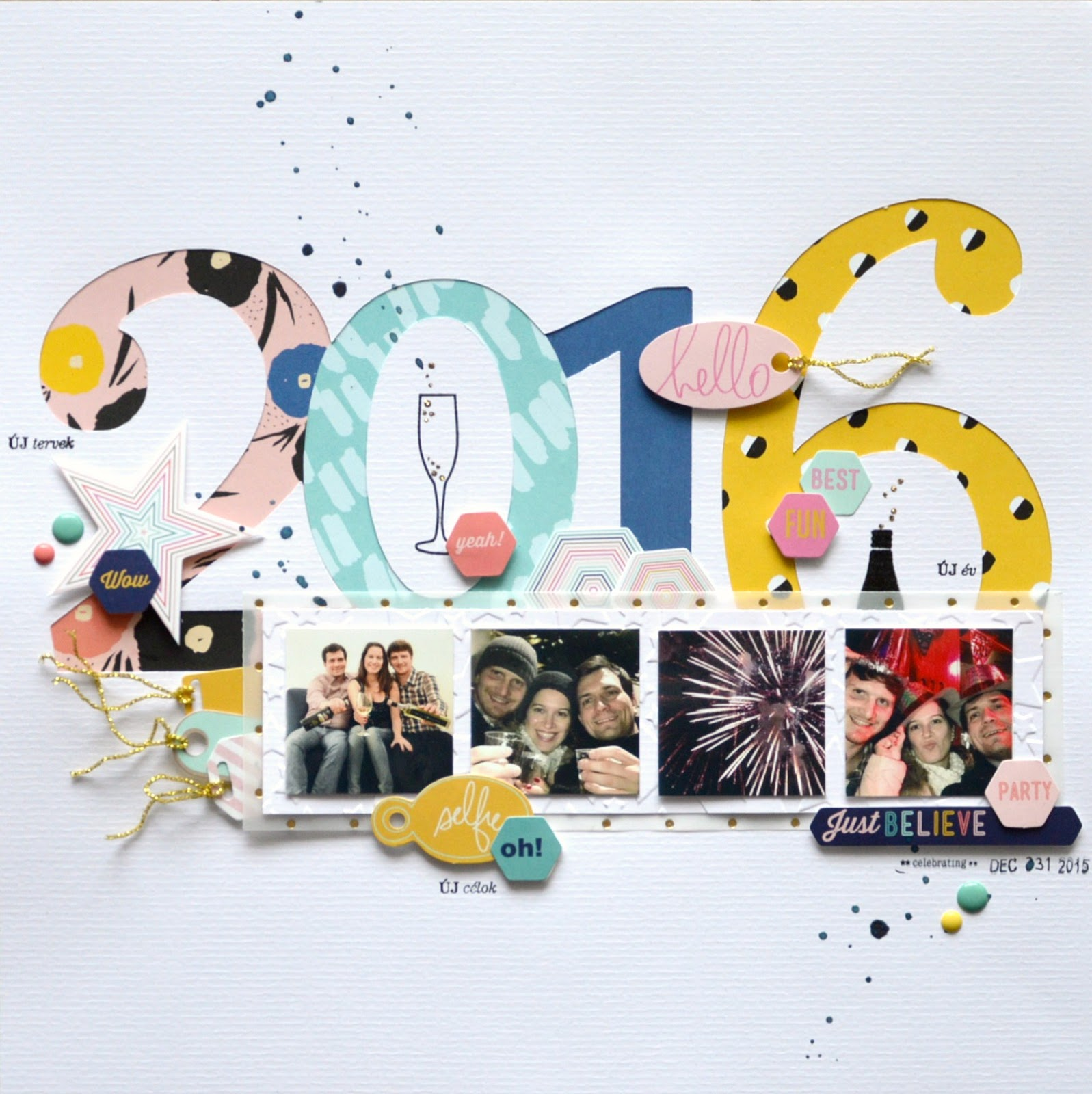 Layer Up Tags For Giving With Heidi Swapp Oh What Fun: Flóra Mónika Farkas: New Year's Eve