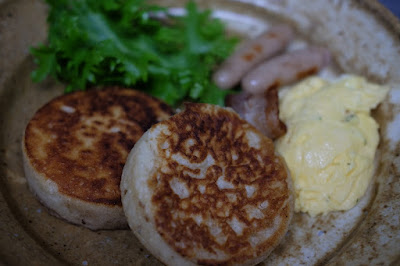 生坂村の古民家カフェ ひとつ石の料理練習 パンケーキ