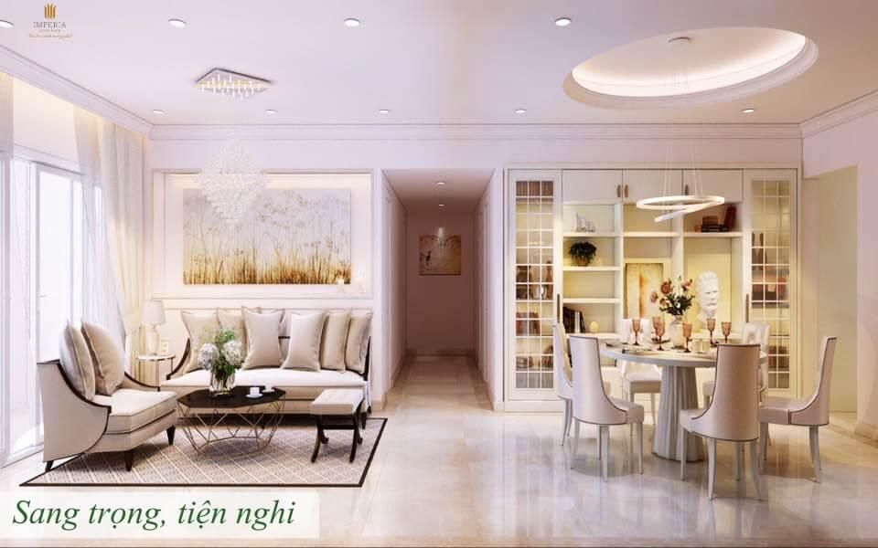 Phòng ngủ sang trọng căn hộ chung cư Imperia Eden Park