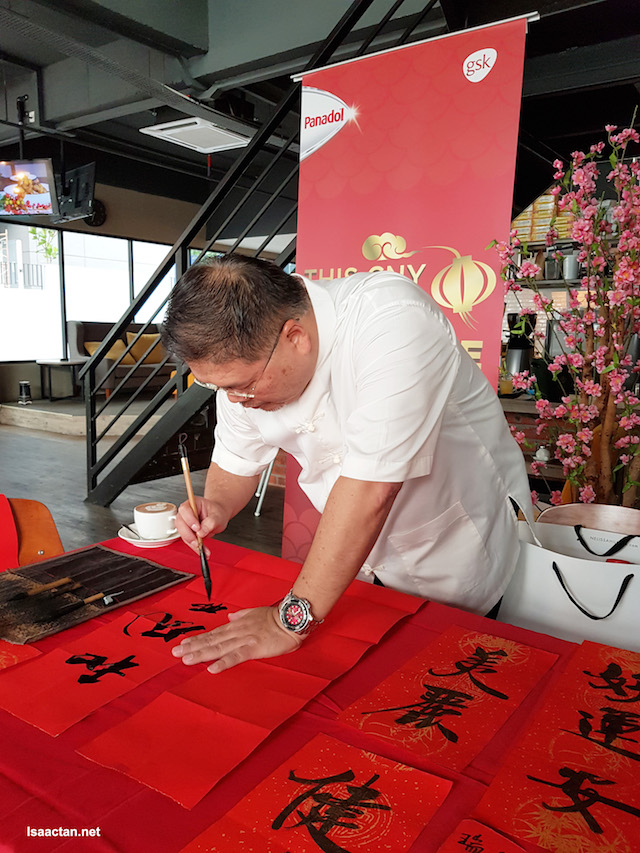 At a recent event, Chinese Calligraphy - Words for Prosperity, Wealth and Health