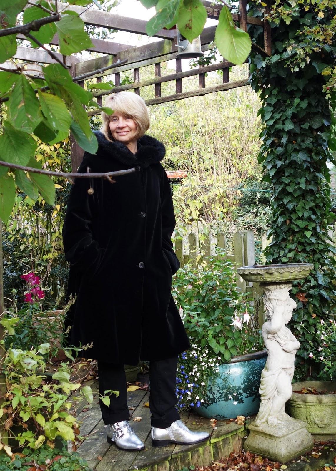 Dannimac black velvet coat